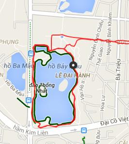 トンニャット公園ジョギングGPS