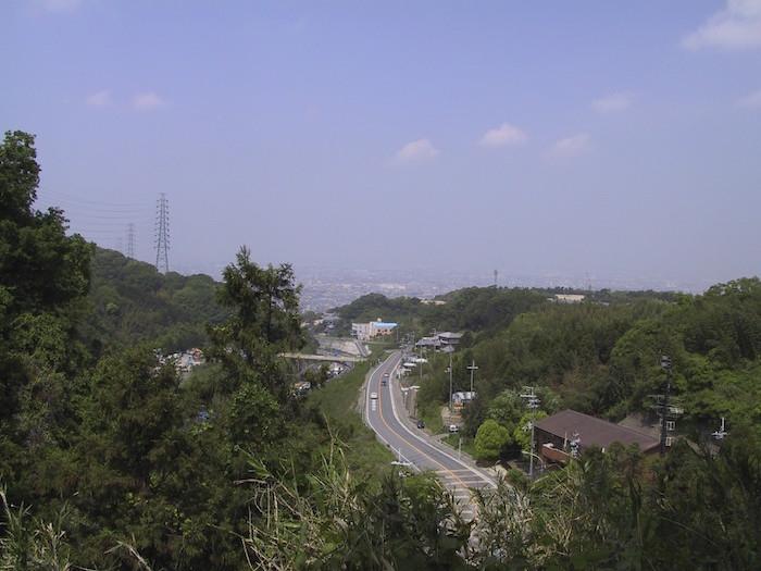 清滝峠頂上付近から撮影