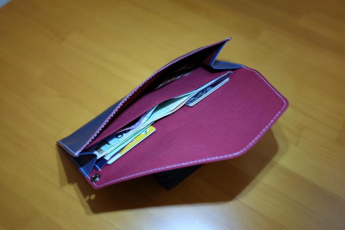 旅行財布にお金を入れてみた
