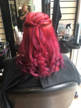 curly do in vibrant red