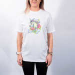 Floral Unicorn (Side) – Premium T-Shirt or Hoodie