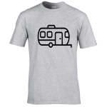 Caravan Outline – Premium T-Shirt or Hoodie