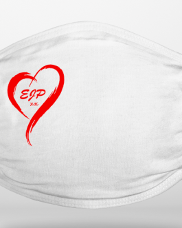 Heart With Initials Face Covering (Add Your Own Initials)