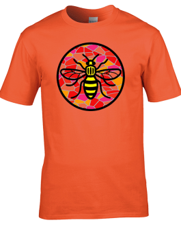 Manchester Bee – Red Mosaic