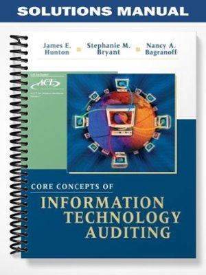 Core Concepts of Information Technology Auditing 1st Edition Solutions Manual By Hunton
