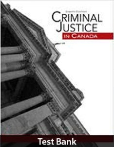 Criminal Justice in Canada 8th Edition Test Bank By Goff