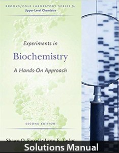 Experiments in Biochemistry 2nd Edition Solutions Manual By Farrell