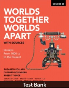 Worlds Together, Worlds Apart with Sources 2nd CONCISE Edition Test Bank By Pollard