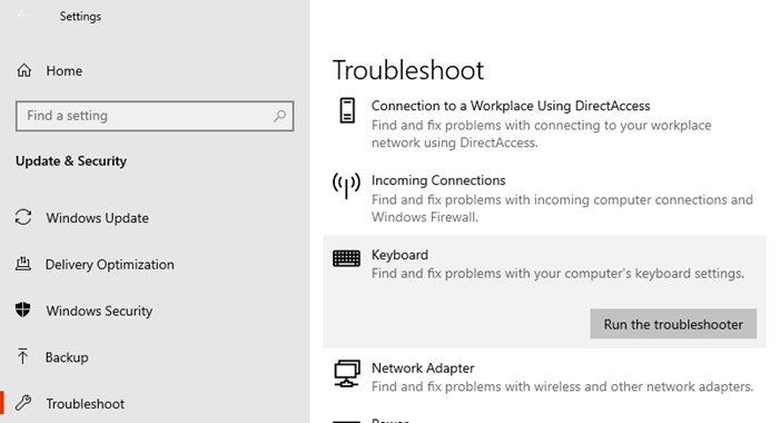 Keyboard Troubleshooter to fix lag