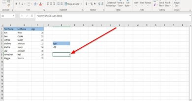 How to use DCOUNT and DCOUNTA Function in Excel