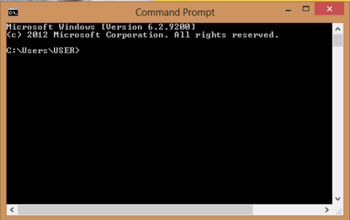 command prompt display