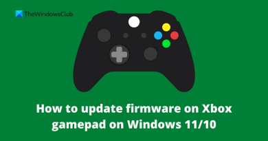 How to update firmware on Xbox gamepad on Windows 11/10