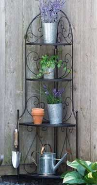 3 ways to use bakers rack plant stand