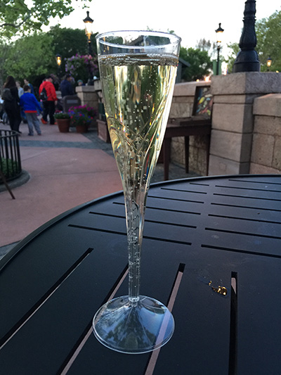 Epcot France Champagne Glass