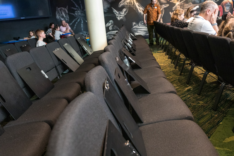 Seating at Animation Experience at Conservation Station
