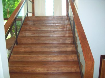Narra Stair, Narra Handrail, Kamagong Baluster - BF Homes
