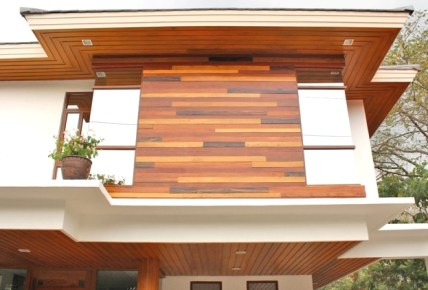WOOD CLADDING - VENEER OR SOLID WOOD: MOLAVE, KAMAGONG, IPIL, TEAK, ACACIA (OUTDOOR OR INDOOR)