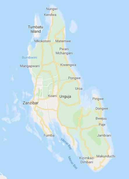 zanzibar kite spot map