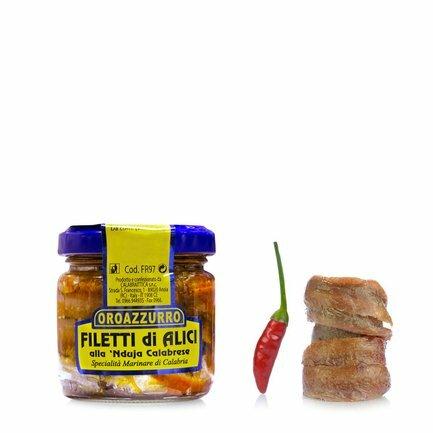 Filets d'anchois aux nduja 100g