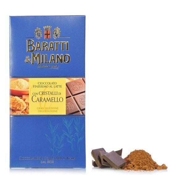 Tablette de chocolat au lait et caramel 75g