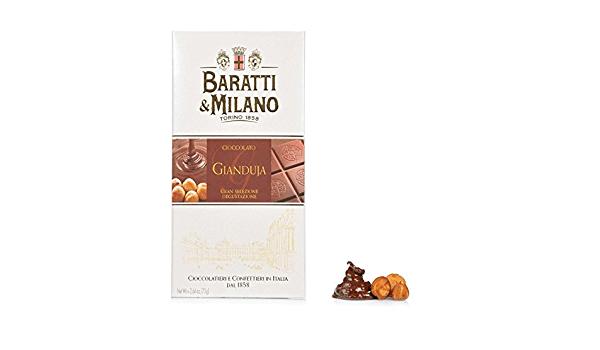Tablette de chocolat gianduja Piazza Castello 75g