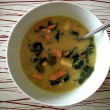 Wild salmon soup.