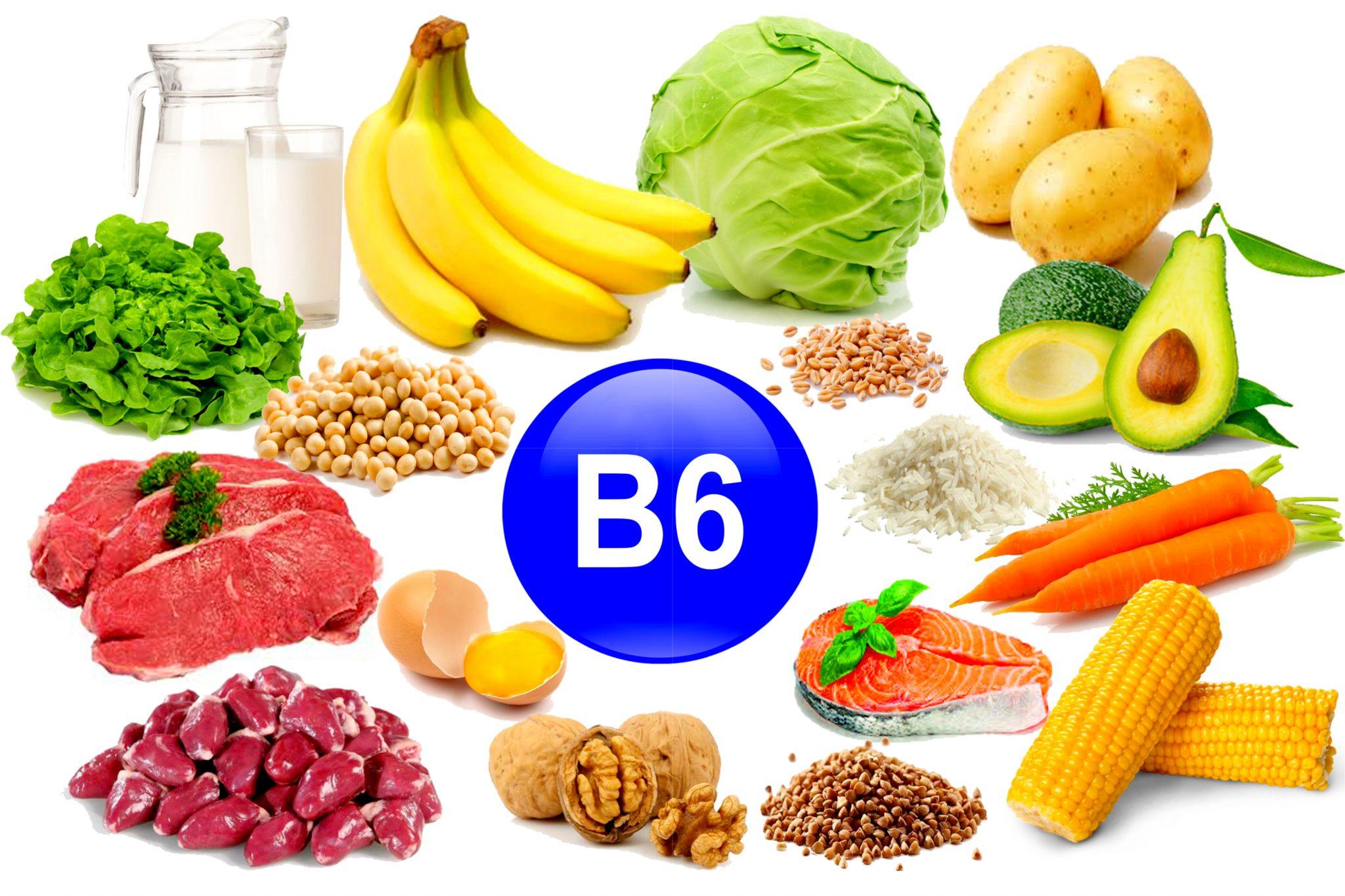 ビタミンB6を含む食品の一覧表