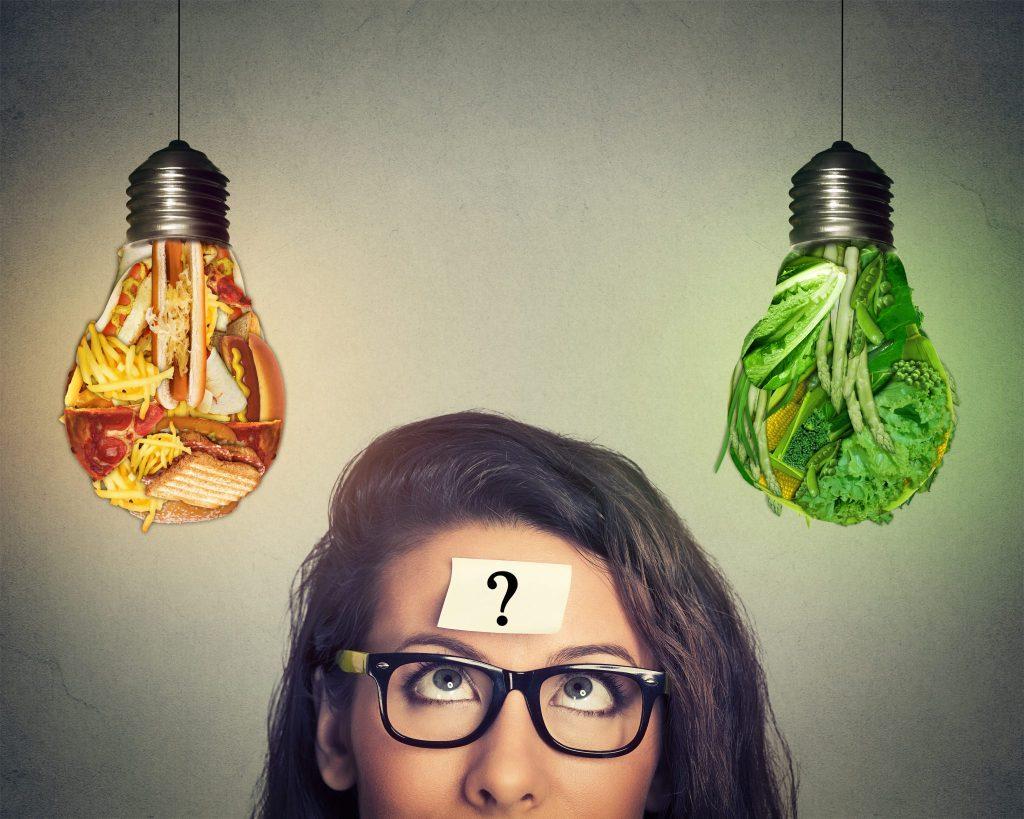 肉と野菜考えている