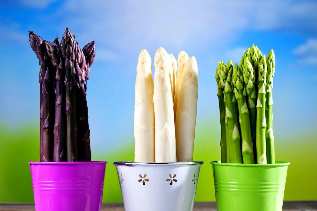 紫、白、グリーンアスパラ