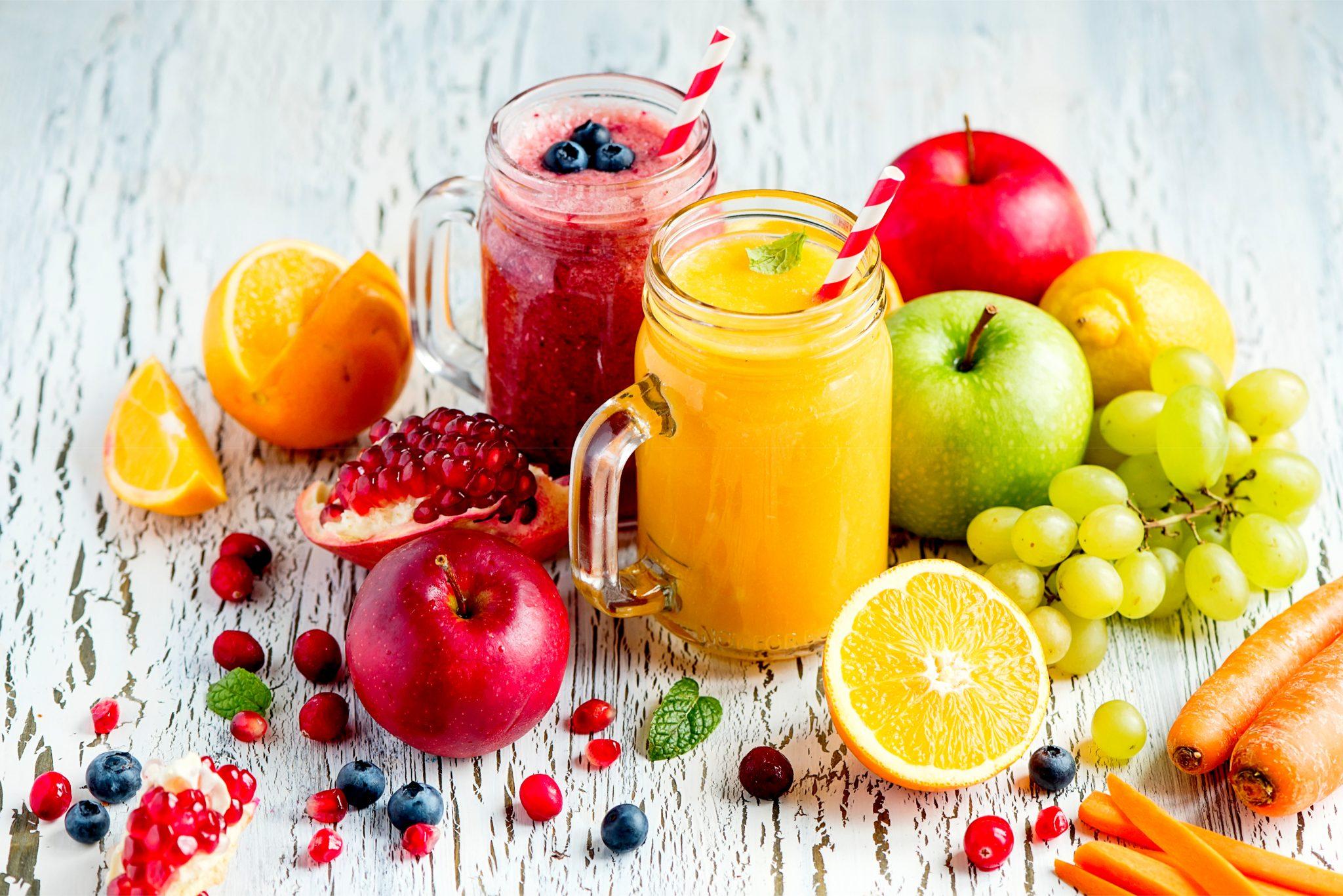 果汁100%の手作りフルーツジュース