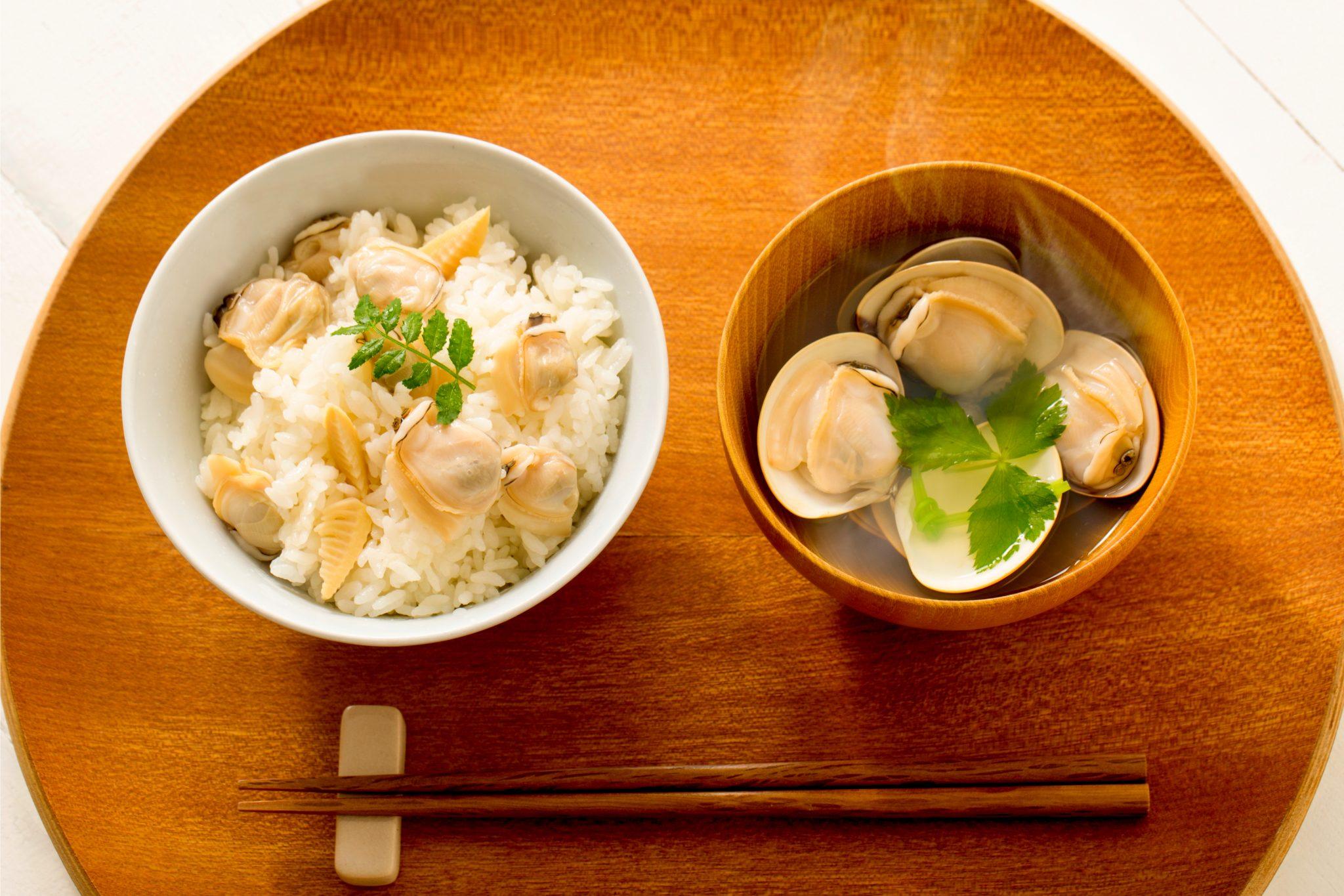 アサリご飯とアサリのお味噌汁