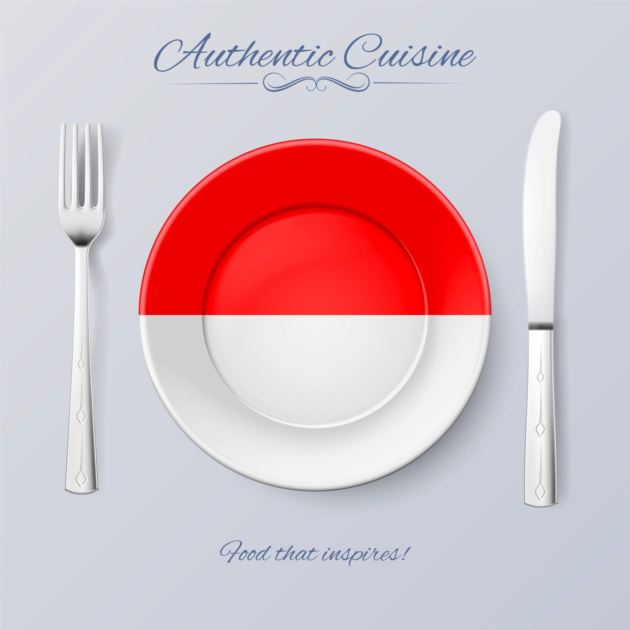 インドネシアの国旗の絵柄のお皿
