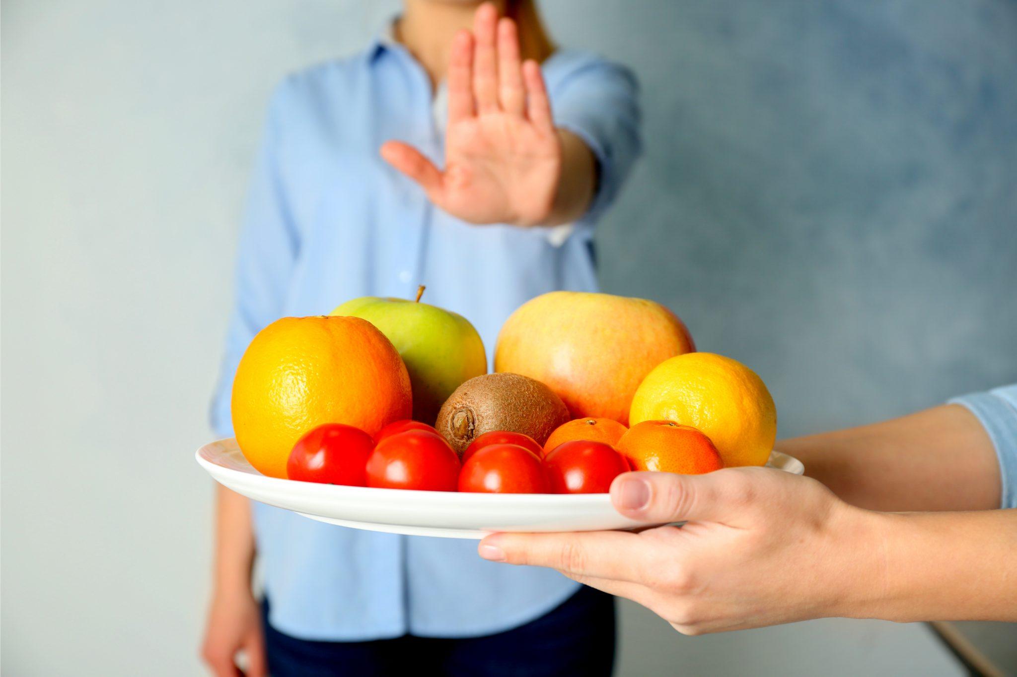 果物アレルギーに拒絶反応をしている人