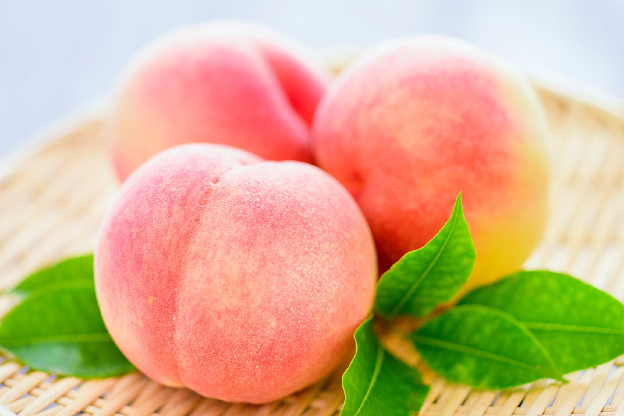 美味しそうな桃