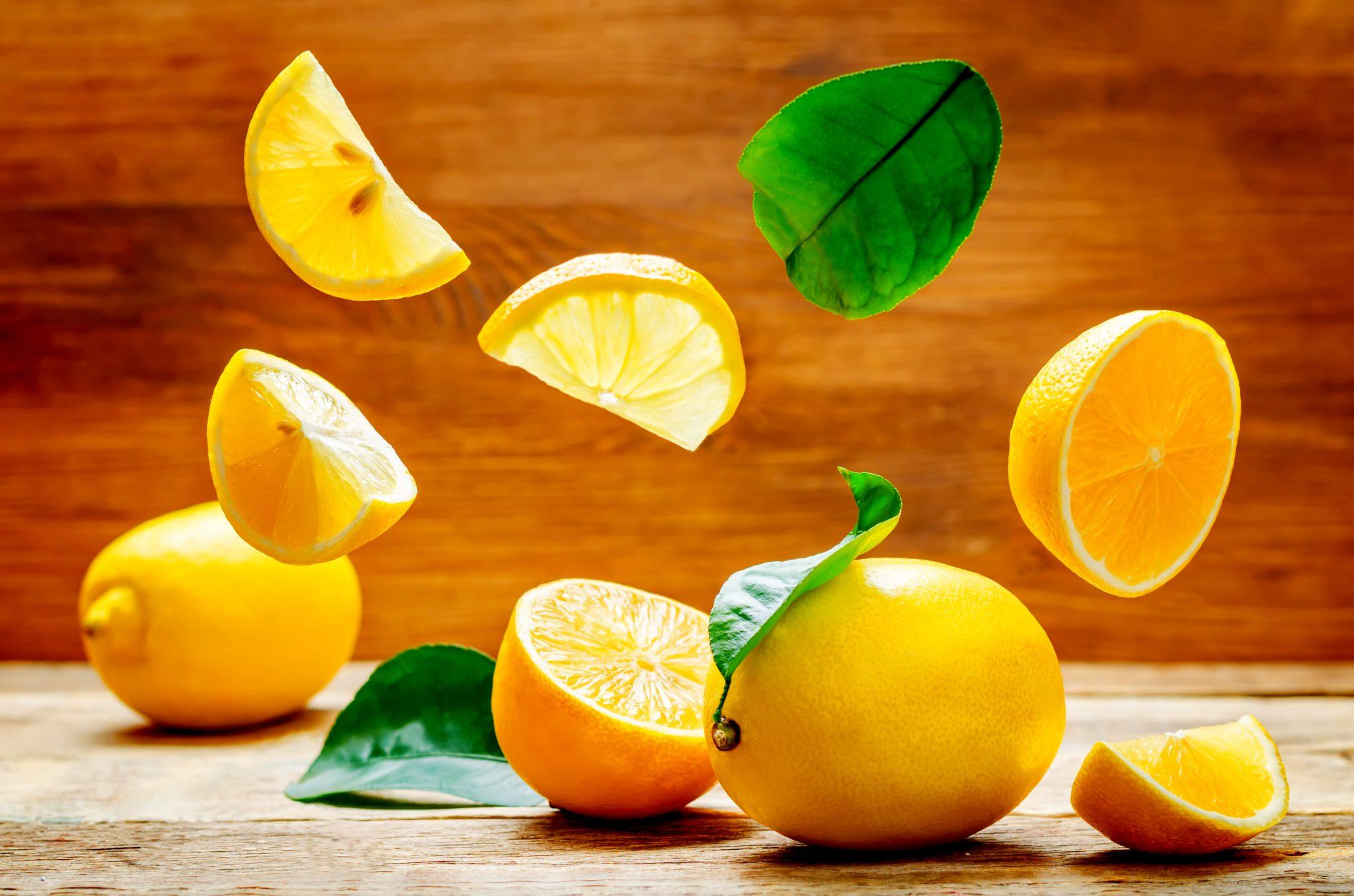 躍動感のあるレモン