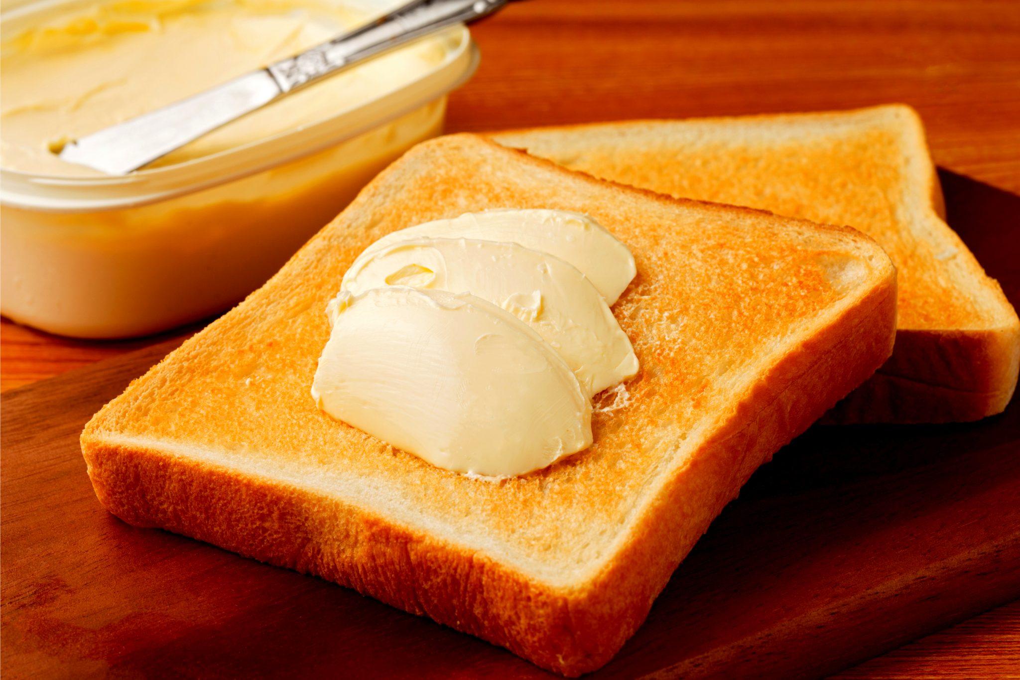 トランス脂肪酸の多いマーガリントースト