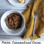 Porter, Caramelized Onion, & Beef Stew | eatatkates.com | This delicious, savory beef stew takes a few simple ingredients and let's them hang out for a few hours to create a fantastic, comforting dish that will get you through the remaining days of winter.
