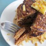 Honey-Nut Whole Grain Pancakes   eatatkates.com - Pancakes filled with oats, almonds, walnuts, & a touch of honey.