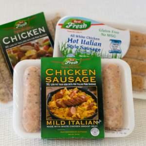 Chicken Sausage Stuffed Acorn Squash   https://eatatourtable.com