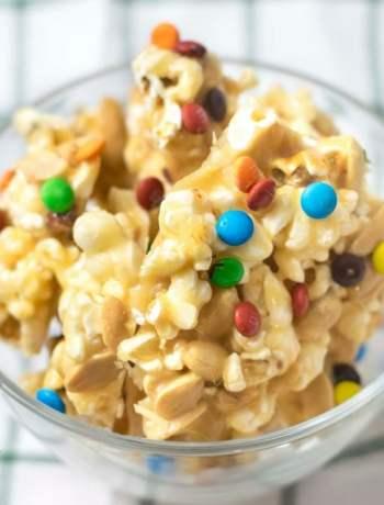 Gluten Free Popcorn Peanut Brittle