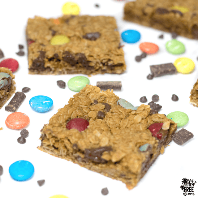 Monster Cookie Bars- Gluten Free and Top 8 Allergen Free