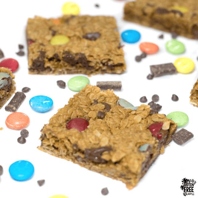 Monster Cookie Bars- Gluten Free and Top 8 Allergen Free