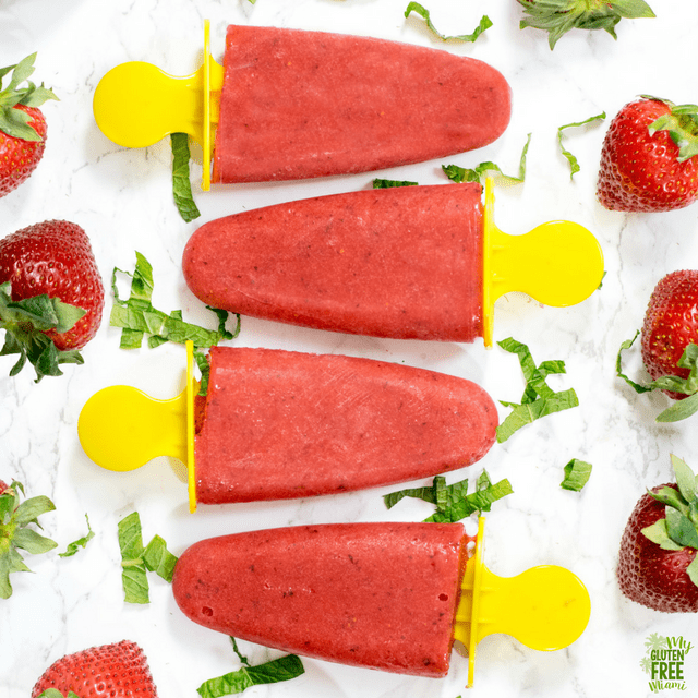 Strawberry Limeade Popsicles