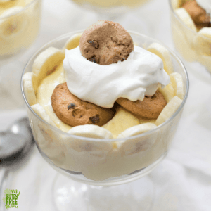 gluten free chocolate chip banana pudding