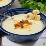 Gluten Free Roasted Cauliflower Soup