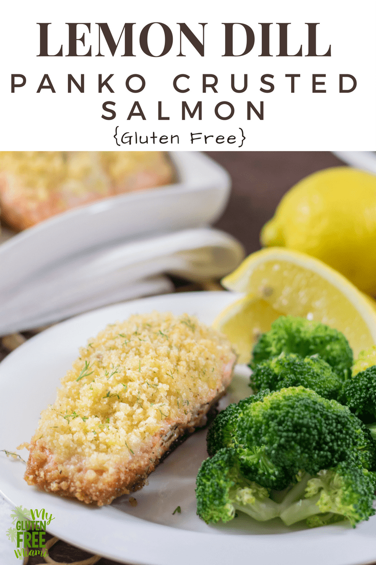Lemon DIll Panko Crusted Salmon