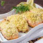 Gluten Free Lemon Dill Panko Crusted Salmon