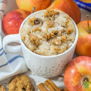 apple cinnamon gluten free mug cake
