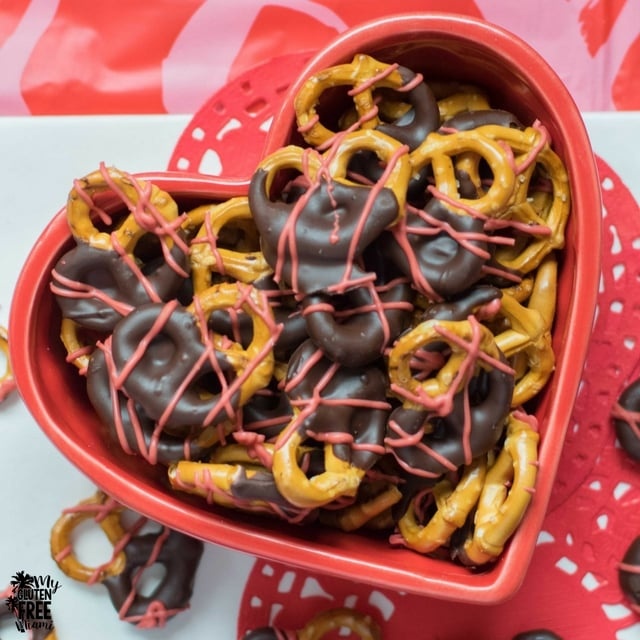Gluten Free chocolate dipped pretzels
