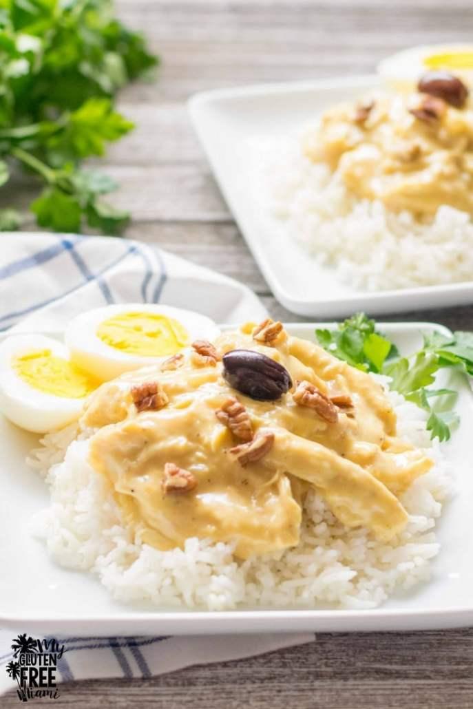 Aji de Gallina, Peruvian Spicy Creamy Chicken Stew